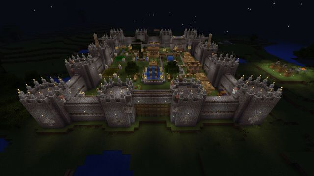 how to build the minbecraft x-box 360 tutorial world castle