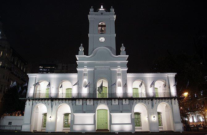 El Cabildo de Buenos Aires, testigo de la revolución de mayo de 1810.