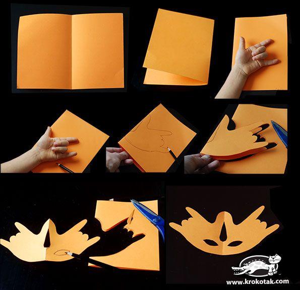 Jak si vyrobit masku pomocí otisky rukou