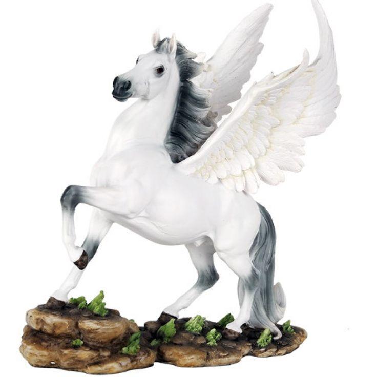 Rearing Pegasus Statue