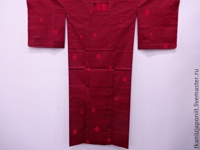 Купить Японское кимоно шелковый дождевик - бордовый, темно-красный, летний плащ