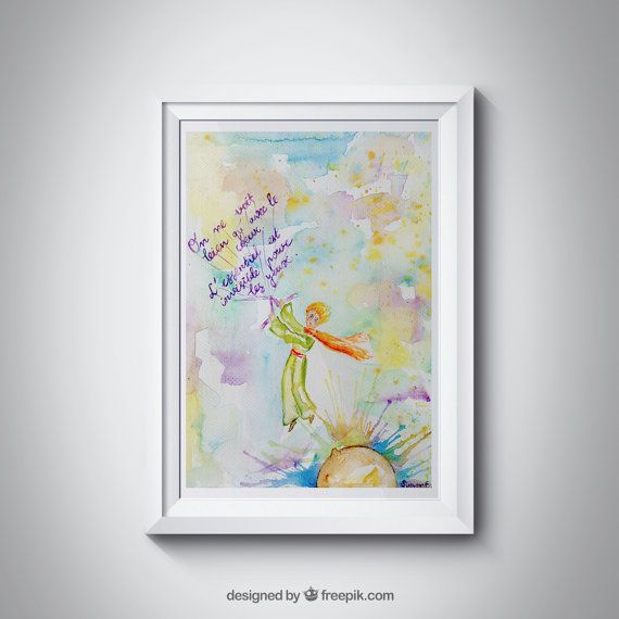 The Little prince Giclee Print https://www.etsy.com/uk/listing/454696864/the-little-prince-flying-le-petit-prince