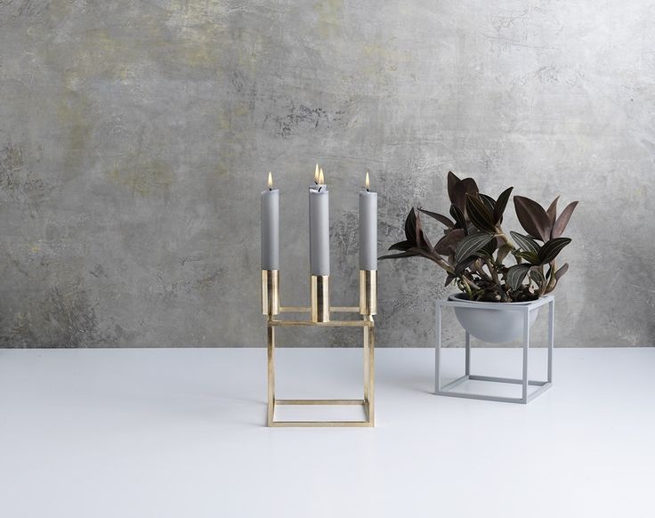 Kubus designed by Mogens Lassen in 1962 now relaunched in brass.