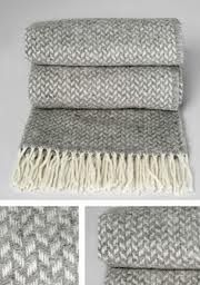 Grey chevron wool textiles
