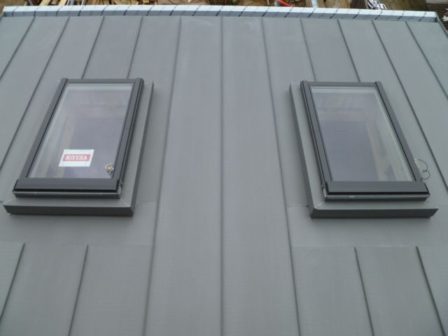 Zinc Roof Velux Google Search Zinc Roof Metal Roofing Prices Metal Roof Colors