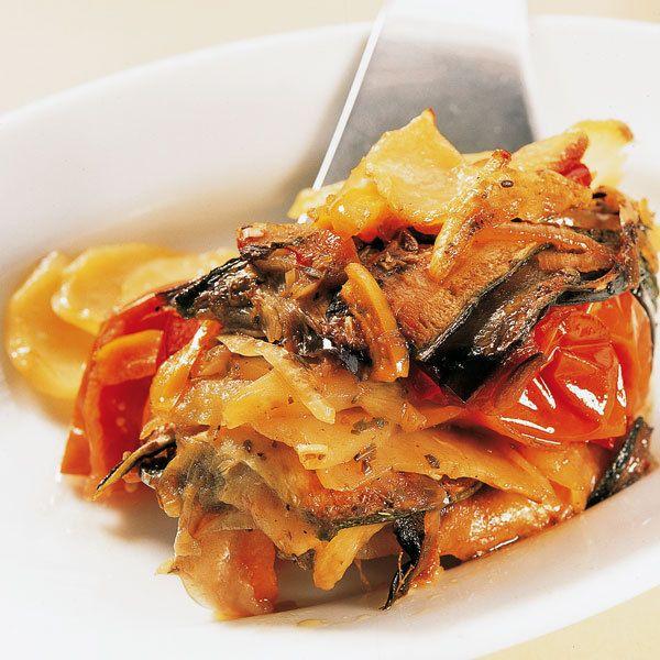 Der italienische Gemüseauflauf, auch Giambotta genannt, schmeckt auch kalt sehr gut.