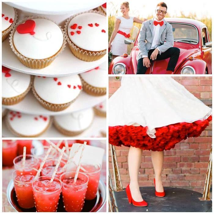 Kleurinspiratie: rode kleuraccenten voor jullie bruiloft www.weddings.nl