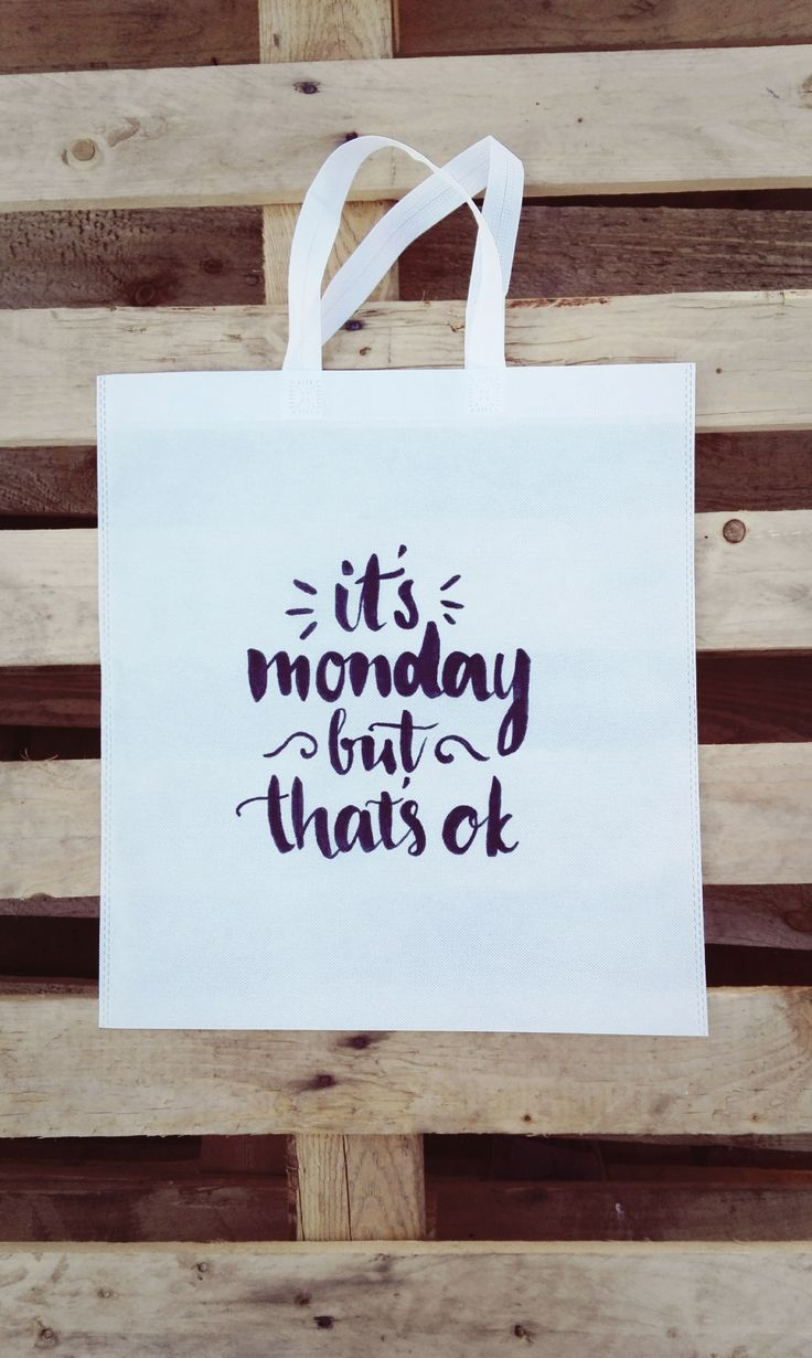 It's Monday but That's Okay Woven Tote :)