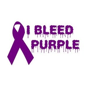 I bleed purple