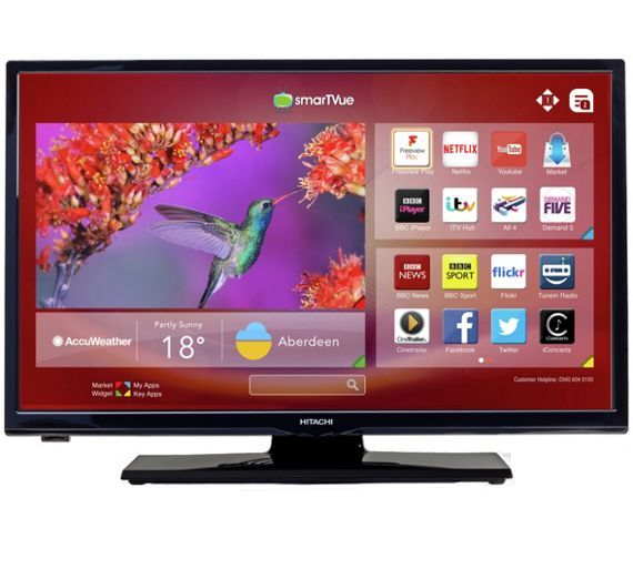 Buy Hitachi 24 Inch HD Ready Freeview Play Smart LED TV at Argos.co.uk, visit Argos.co.uk to shop online for Televisions, Televisions and accessories, Technology