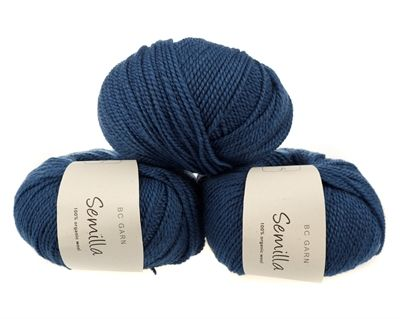 Blå mørk ob114 - Semilla - økologisk uldgarn fra B.C. Garn - Strikkepinden