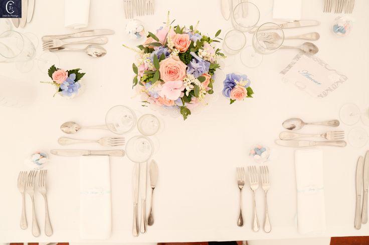 Décoration du mariage de Lamia & Steve en rose et bleu !
