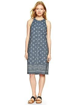 Bandana chambray halter dress | Gap