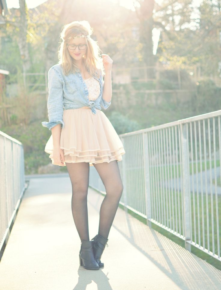 ViktoriaSarina, Viktoria, Denim, Tutu Skirt, Sunlight, Fashion, Outfit, Fashionblogger
