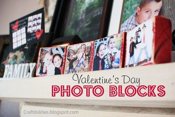Craftibilities: PHOTO BLOCKS - Valentine's day - DIY Tutorial - Great gift idea!