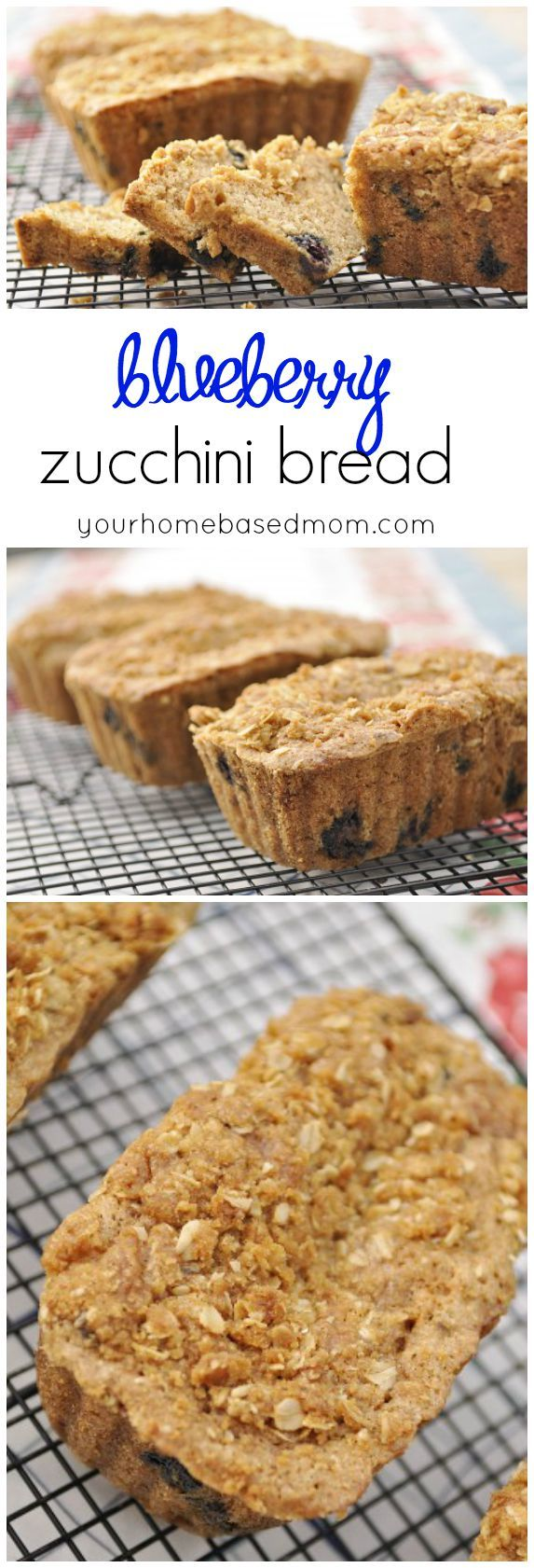 Blueberry Zucchini Bread is the perfect way to use up that zucchini in the garden!  If you don't have zucchini in the garden, go buy some so you can make this bread!