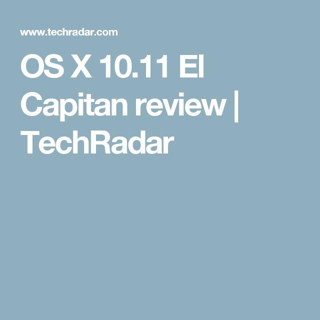 OS X 10.11 El Capitan review | TechRadar