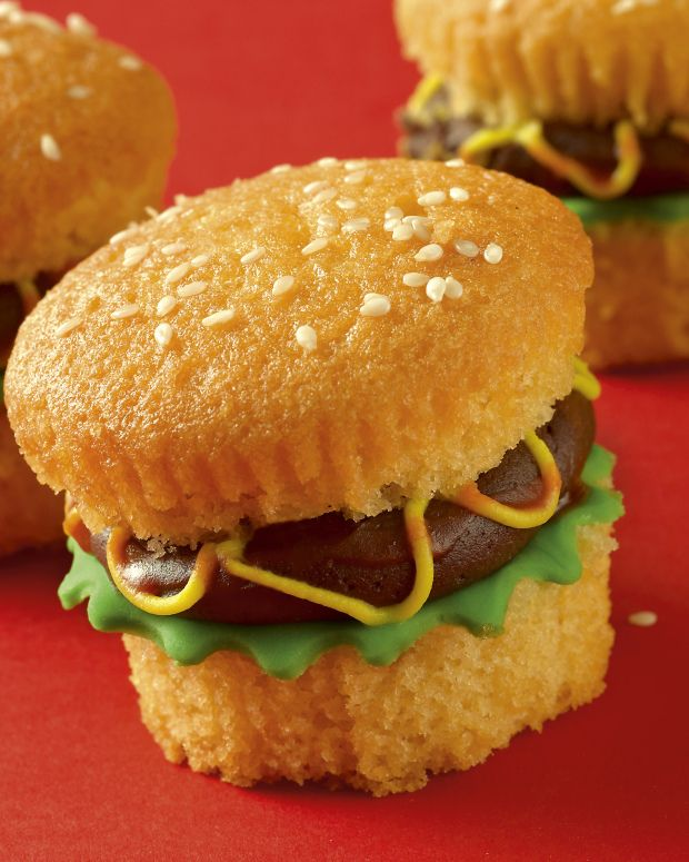 If you're having a sweet treat post-burger, you might as well stick to the burger theme. Enter the hamburger cupcake. It's a cupcake. It looks like a burger. You can't go wrong. Here's how to make your own, with a recipe from Renshaw Baking.