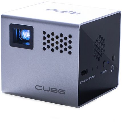 RIF6 Cube Mobile Projector in Silver