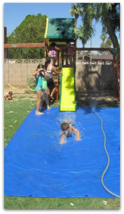 DIY Slip and slide - this would be SO Fun!!!