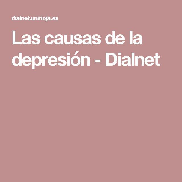Las causas de la depresión - Dialnet