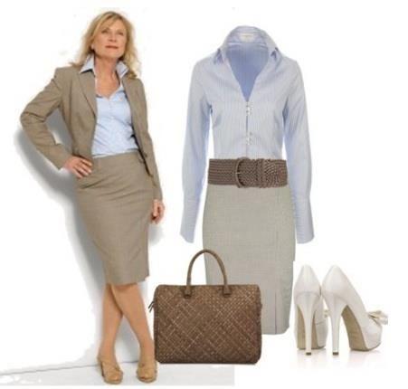 Техническое описание женского классического костюма