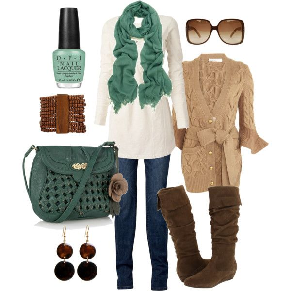 """""""teal & brown"""" by htotheb on Polyvore"""