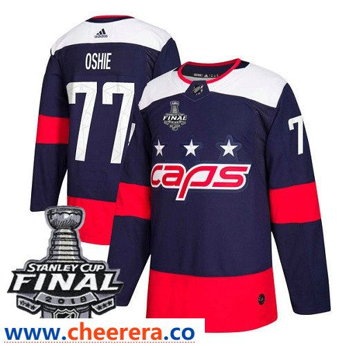 21aeff0a41e Washington Capitals  77 T.J. Oshie Navy Blue Stitched Adidas NHL Men s  Stadium Series Jersey with 2018 Stanley Cup Final Patch
