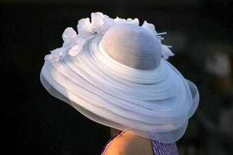 Fun hats are everywhere at the Derby.