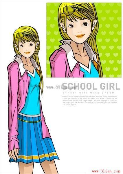 personaje de dibujos animados chica