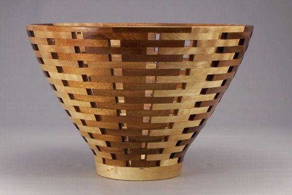 Koa and Maple Open Segmented Bowl by MarcumWoodturning on Etsy