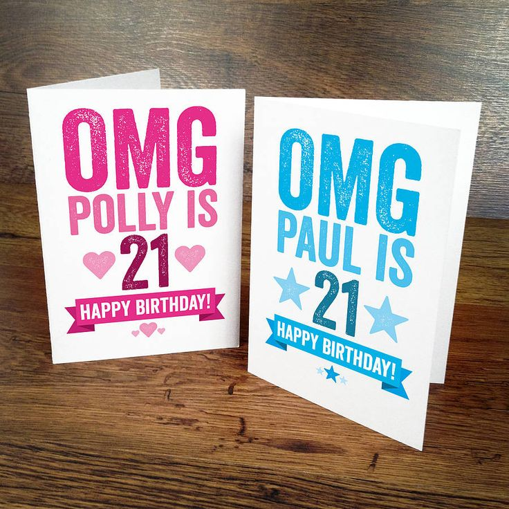 How To Make The Best Birthday Card Ever Part - 39: 21st Birthday Card - A Contemporary Personalised Typographic Birthday Card  For Their 21st!Celebrate It