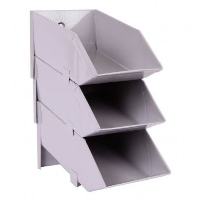 Storage Boxes - Set of 4 Grey  House Doctor