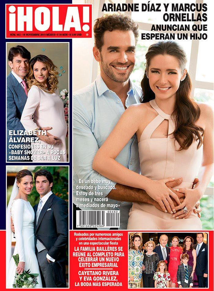 Ariadne Díaz y Marcus Ornellas anuncian en exclusiva para ¡HOLA! que están esperando un bebé.