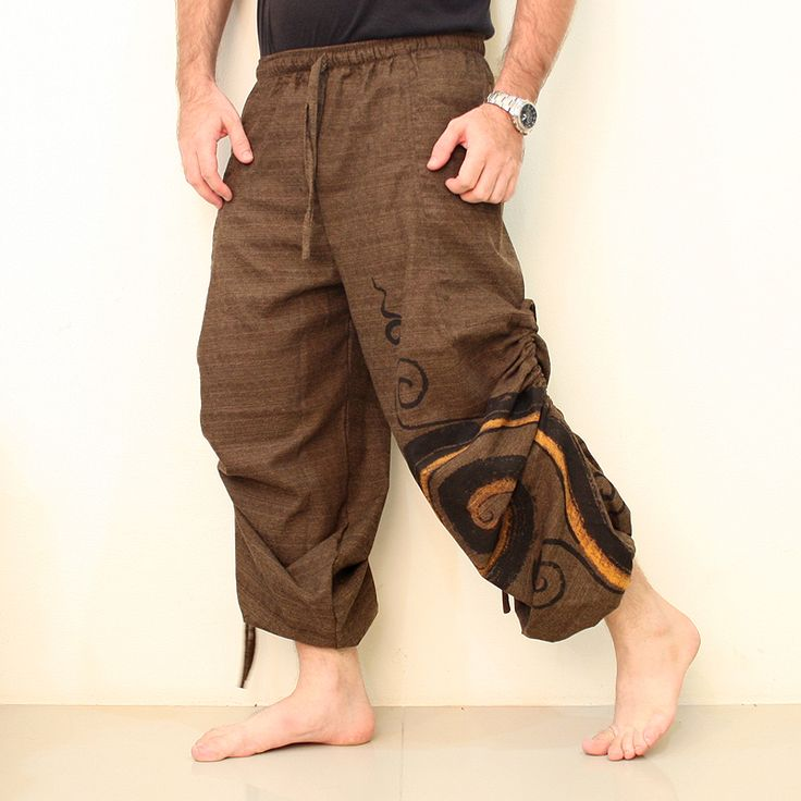 Casual Baggy Trousers Harem Pants Men Swirl