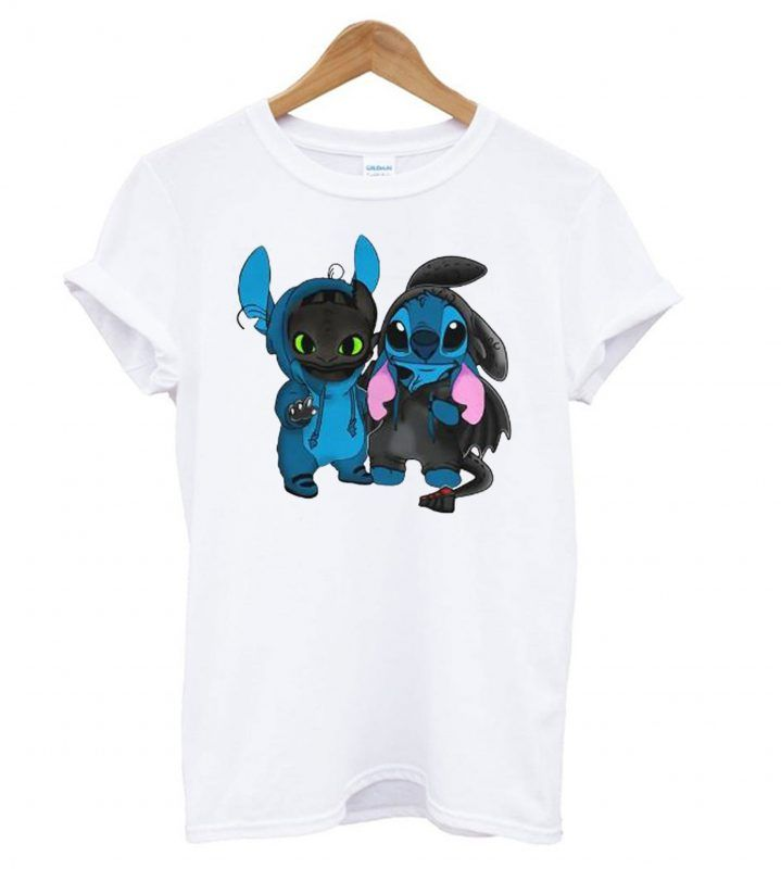 Baby Toothless And Baby Stitch T Shirt T Shirt