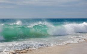 Пейзажи: волна, волны, море, вода, песок, пляж, берег, небо, пейзаж