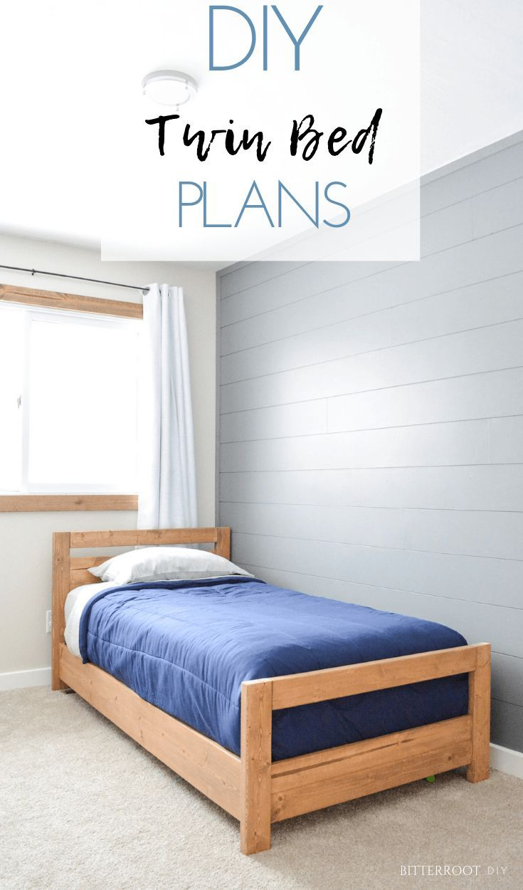 Diy Basic Twin Bed With Images Diy Twin Bed Diy Twin Bed Frame Twin Bed Frame