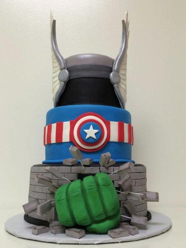 Avengers Assemble and Hulk Smash Cake