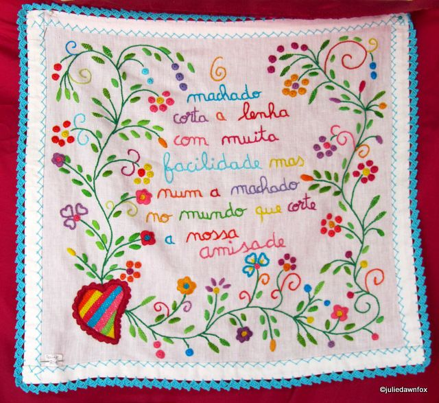 Embroidered Handkerchiefs of Love; a Romantic Portuguese Tradition