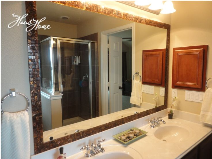 17 Best Ideas About Tile Mirror On Pinterest Diy Bathroom Remodel Restroom Ideas And Framing