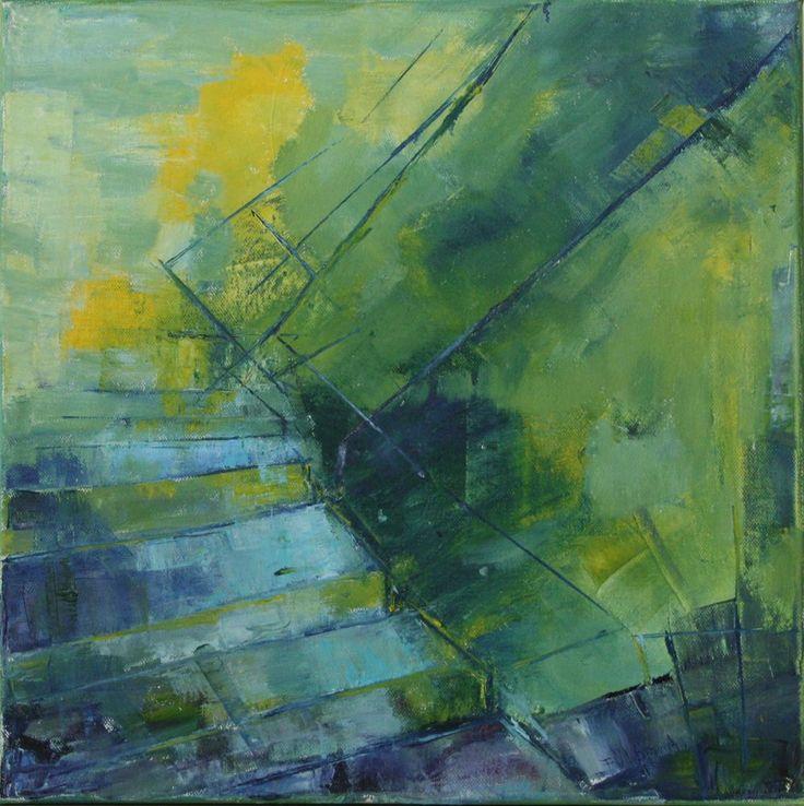 Staircase   -   canvas 40x40 cm Antal Fülöp