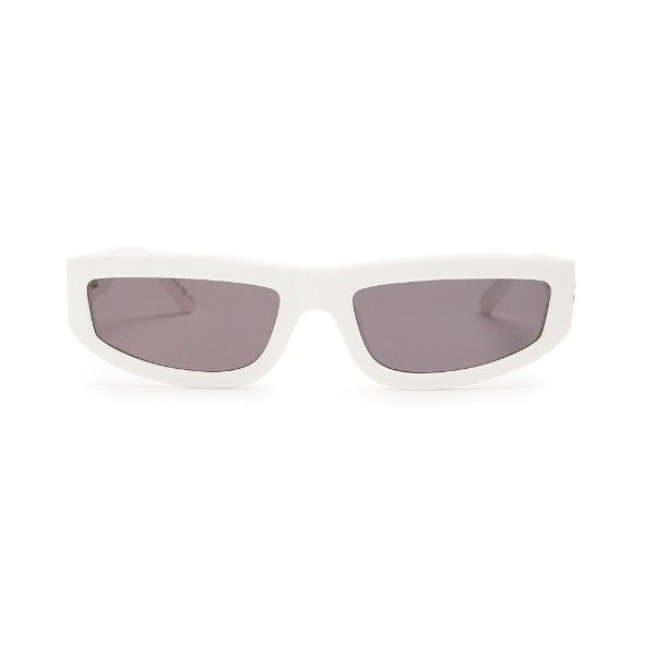 Stella McCartney Rectangle-frame acetate sunglasses (€160) ❤ liked on Polyvore featuring men's fashion, men's accessories, men's eyewear, men's sunglasses, mens white sunglasses, men's rectangular sunglasses and mens rectangle sunglasses