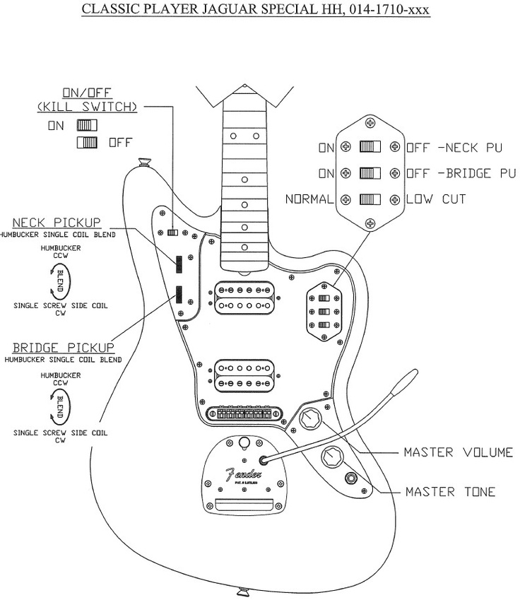 Inspiring Fender Classic Player Jaguar Special Hh Wiring Diagram ...