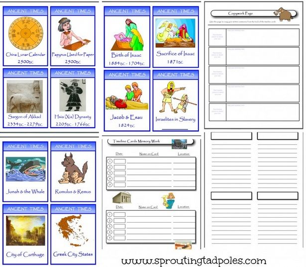 Timeline Cards Creation To Early Greeks Homeschool Pinterest