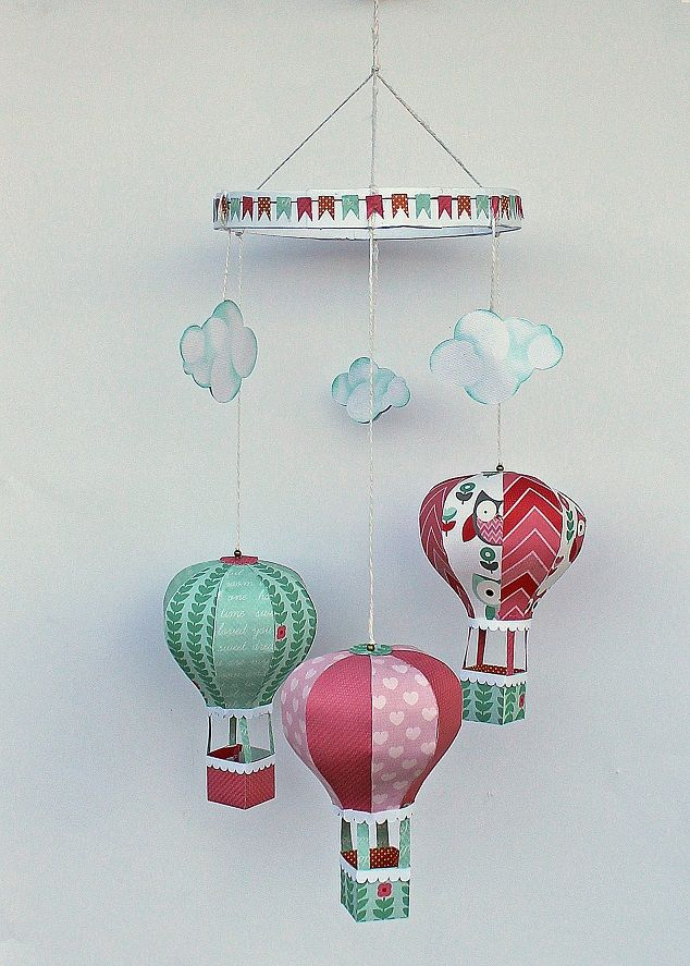 My Craft and Garden Tales: Baby mobile with the Little One Collection from Kaisercraft, with template and tutorial