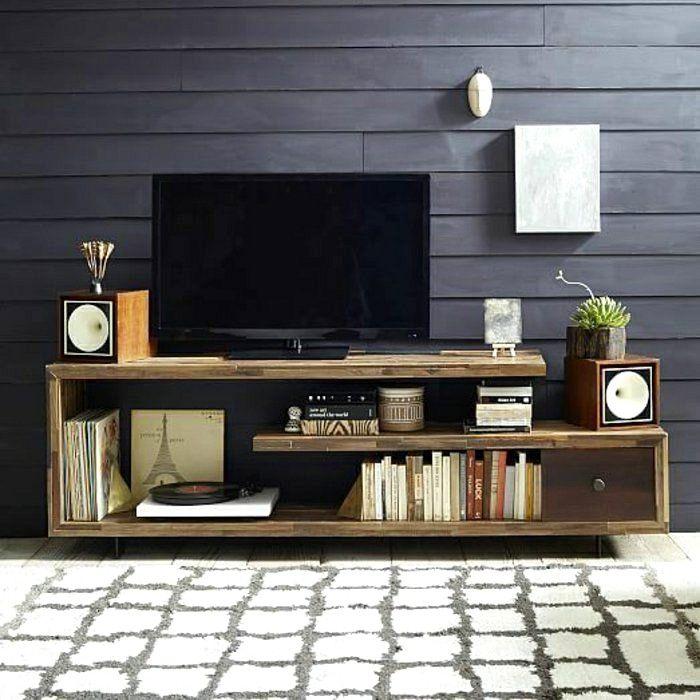 Salon Ultra Moderne Avec Meuble Tv Tres Long En 2020 Salon Tele Salons De Ferme Meuble Tv Chambre