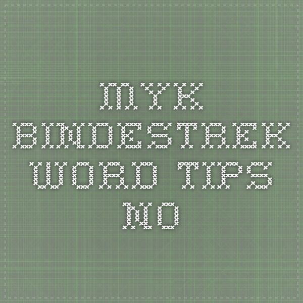 Myk bindestrek - Word-tips.no