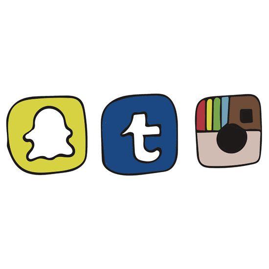 tumblr instagram snapchat apps Sticker Tumblr stickers