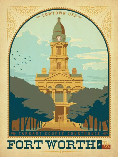 Forth Worth, TX - Anderson Design Group has created an award-winning series of classic travel posters that celebrates the history and charm of America